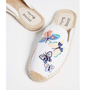 Soludos Butterflies Mule White size 7.5